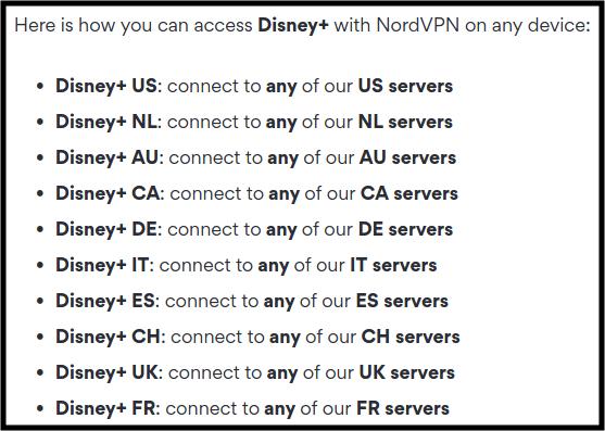 Disney Plus streaming with VPN