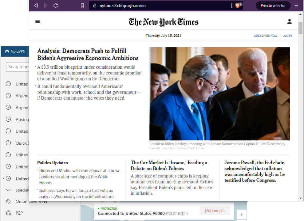 the new york times on the ark web