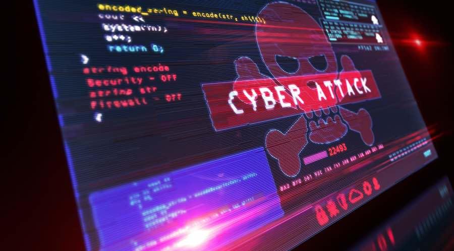 ransomware attack screen