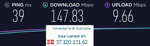 trustzone VPN speed