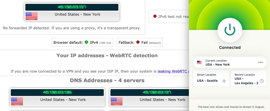 ExpressVPN leak test ip leak