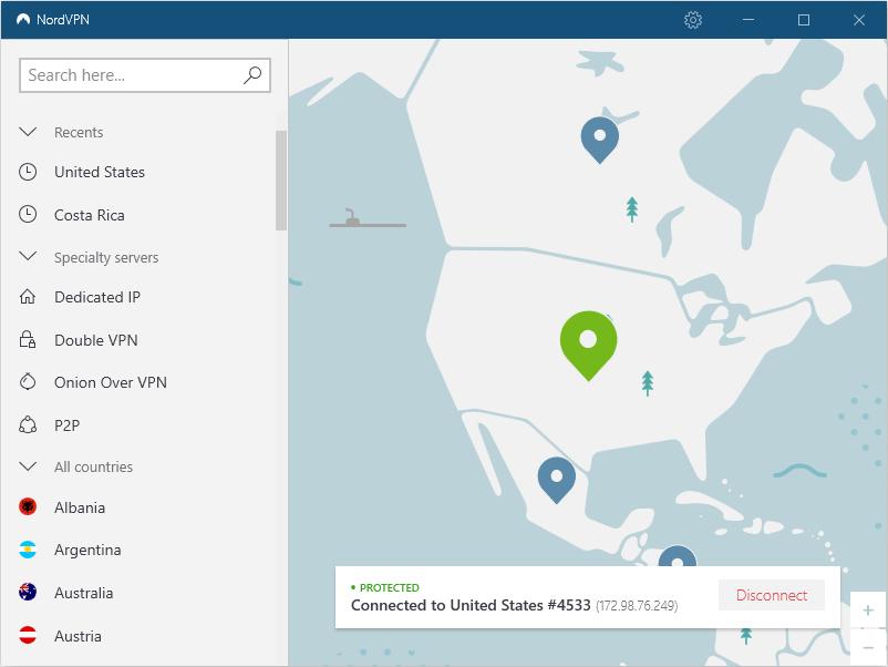 nordvpn desktop client