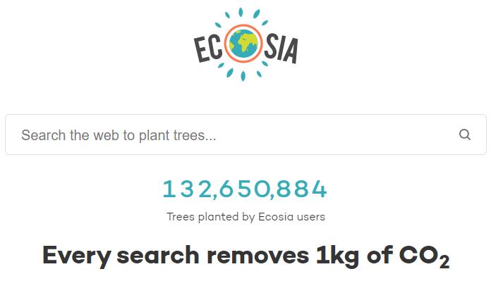 ecosia search engine plants trees privacy