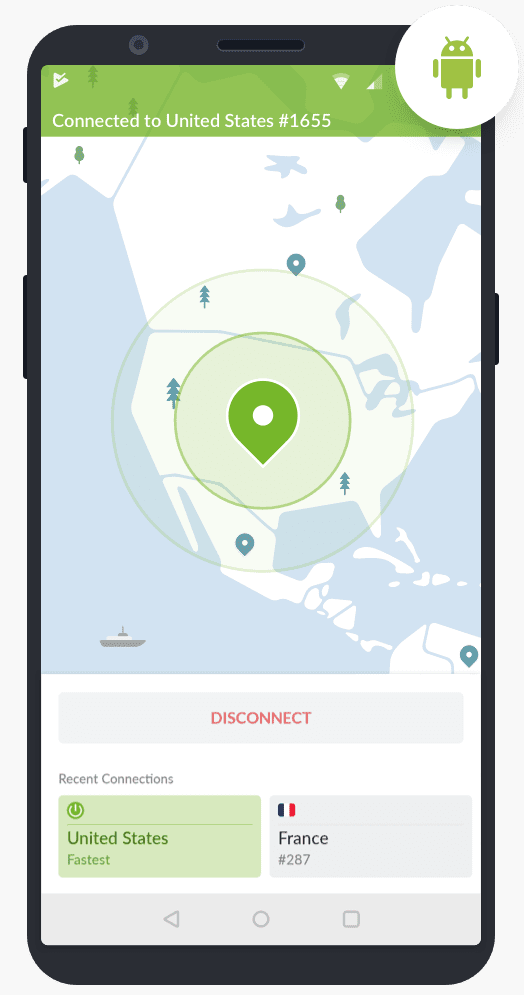 NordVPN Android client