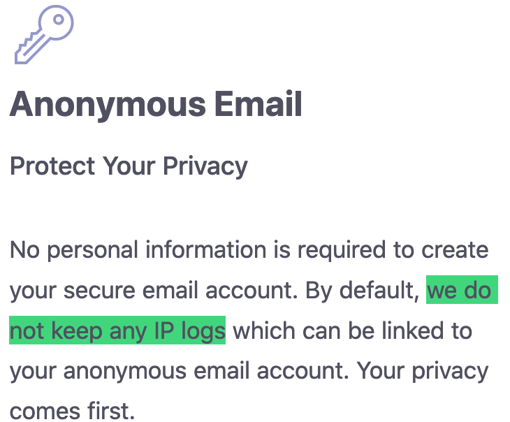 ProtonMail user data Switzerland