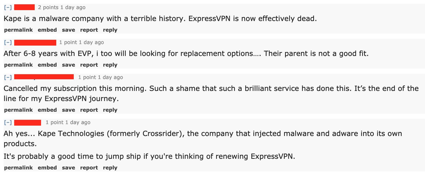 expressvpn users upset