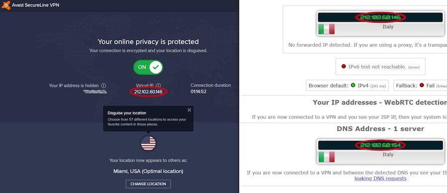 avast VPN for Windows